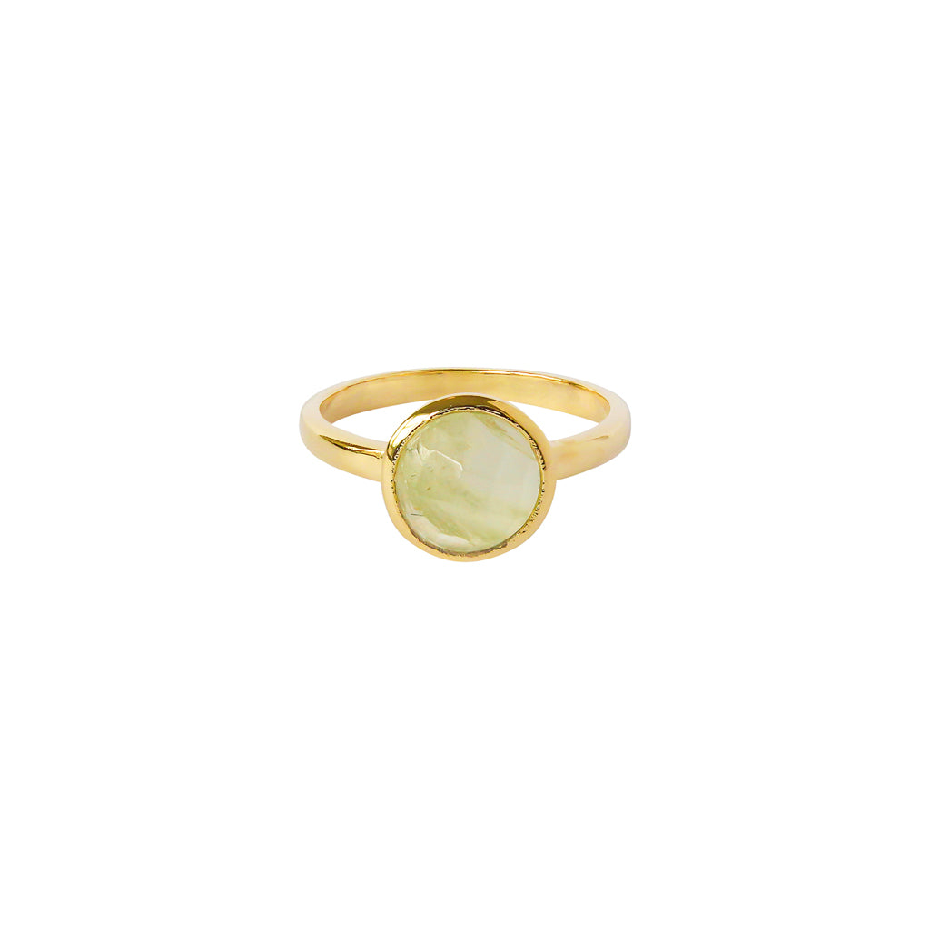 ELKIN PREHNITE GOLD FILLED SEMI-PRECIOUS RING