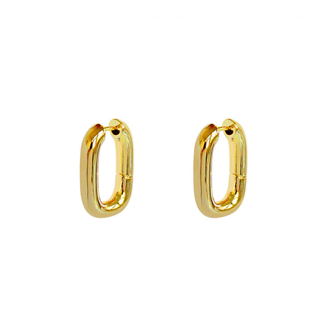 EMBERLY GOLD LARGE RECTANGLE HOOP
