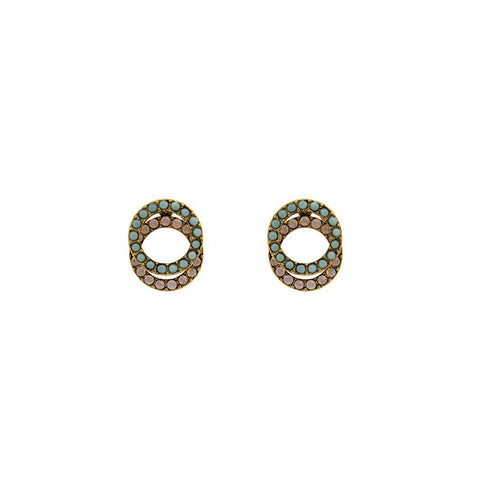 ENAR PASTEL HOLLOW CIRCLES STUDS EARRINGS