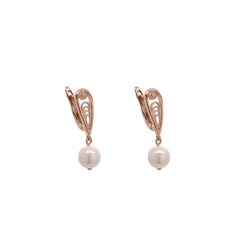 ENNA ROSE GOLD PEARL EARRINGS
