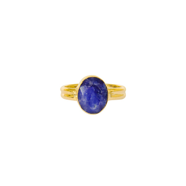 ESA LAPIS GOLD FILLED SEMI-PRECIOUS RING