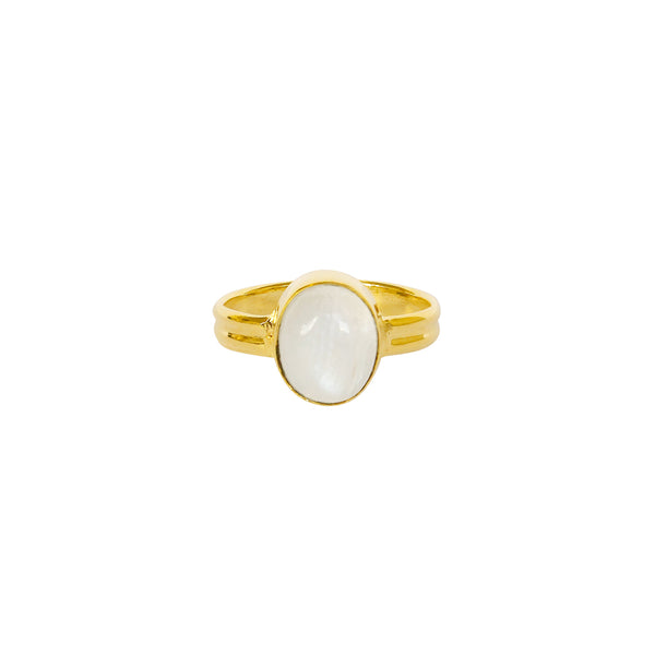 ESA MOONSTONE GOLD FILLED SEMI-PRECIOUS RING