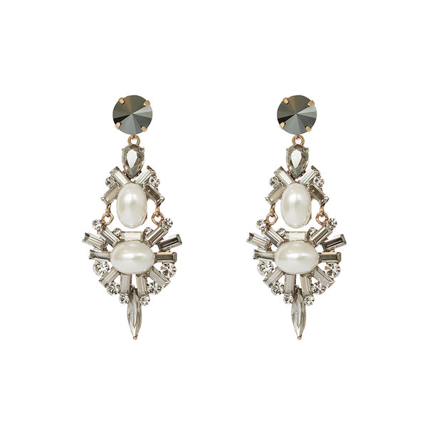 ESME PEARL CRYSTAL DROP EARRINGS