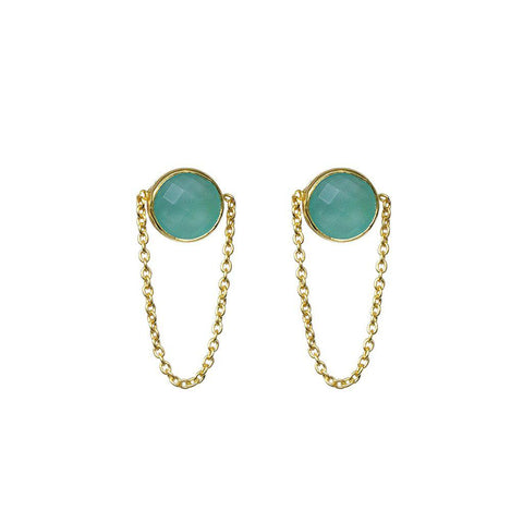 ESTRILA CHALCEDONY GOLD EARRINGS