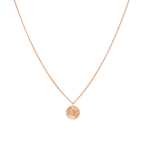 EVIL EYE ROSE GOLD PENDANT WITH CHAIN