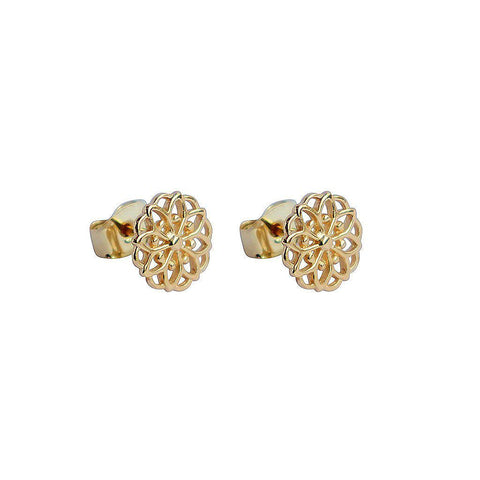 EZRI 2 MICRON GOLD PLATED FILIGREE STUDS