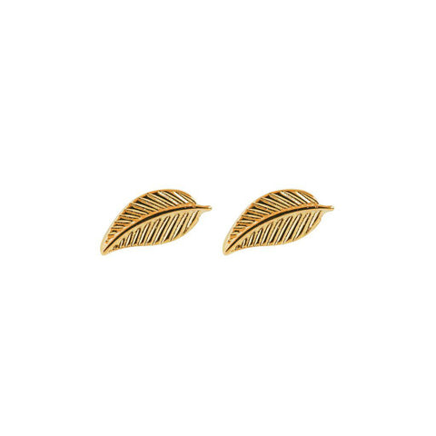 FEATHER 2 MICRON GOLD STUDS