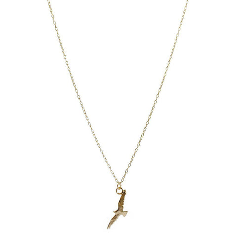 FLYING BIRD GOLD FILLED PENDANT