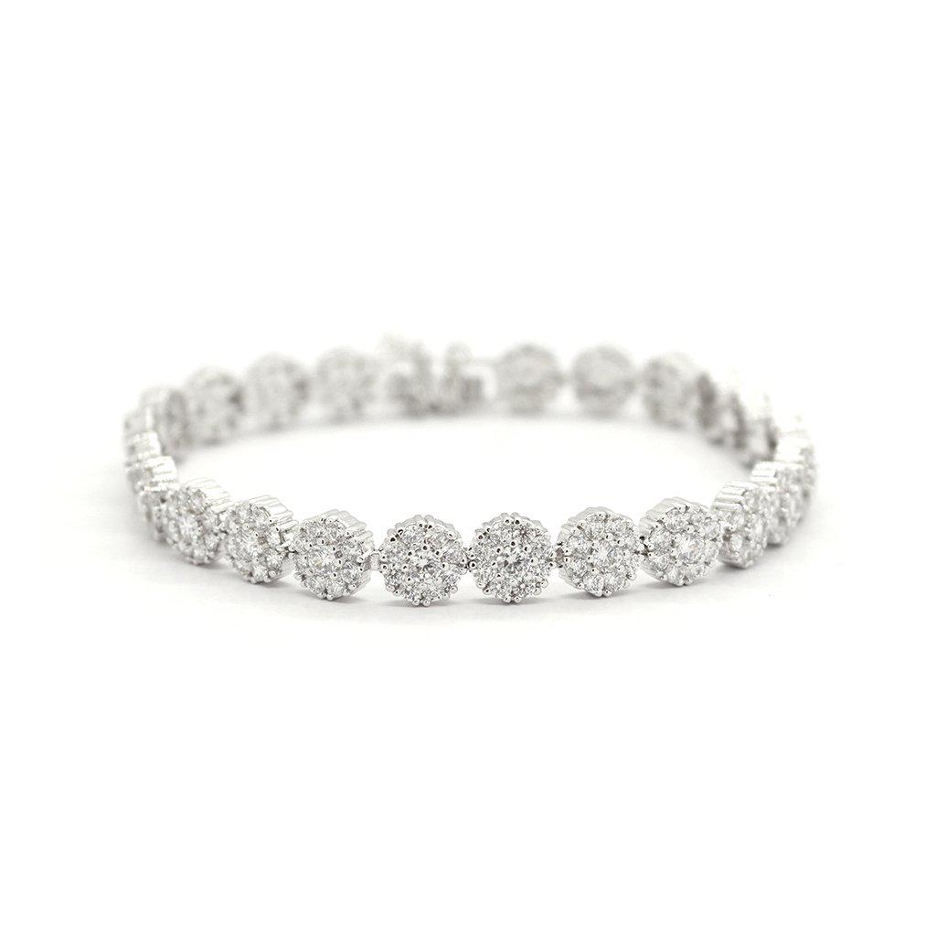 GALA RHODIUM PLATED CRYSTAL BRACELET