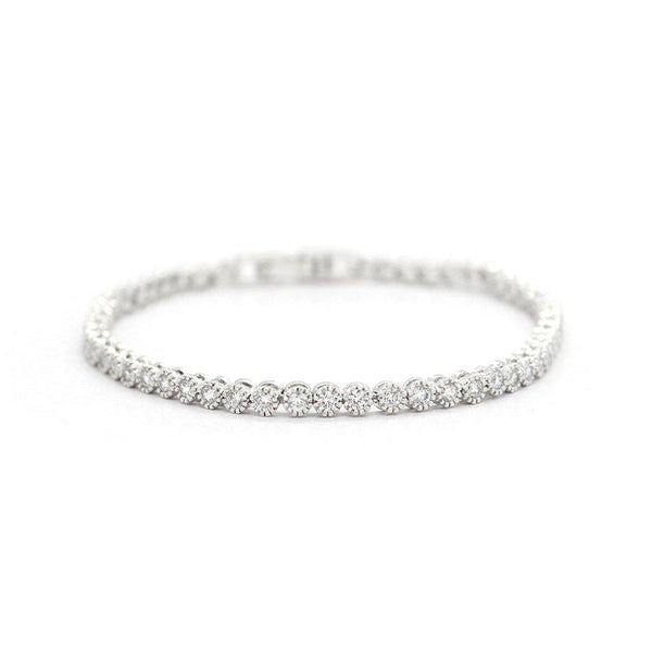 GEIYA SMALL RHODIUM PLATED CRYSTAL BRACELET