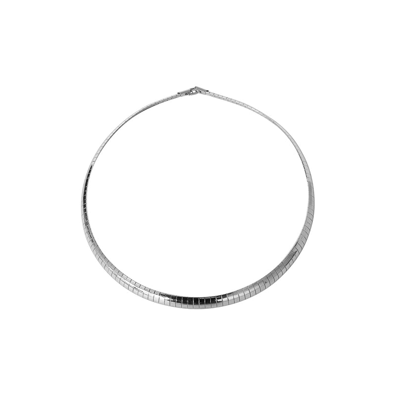 GINA LARGE SILVER NECKLACE