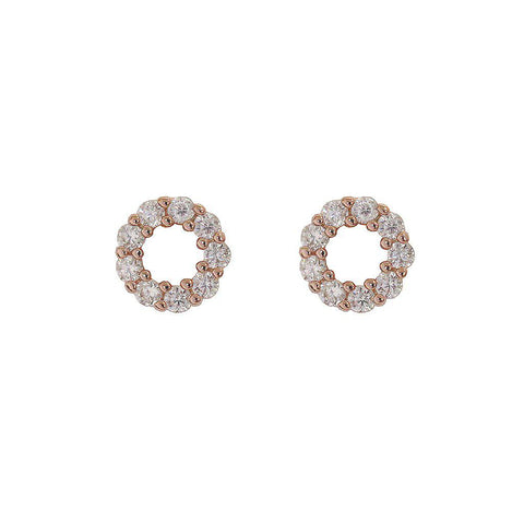 GIA ROSE GOLD HOLLOW STUDS
