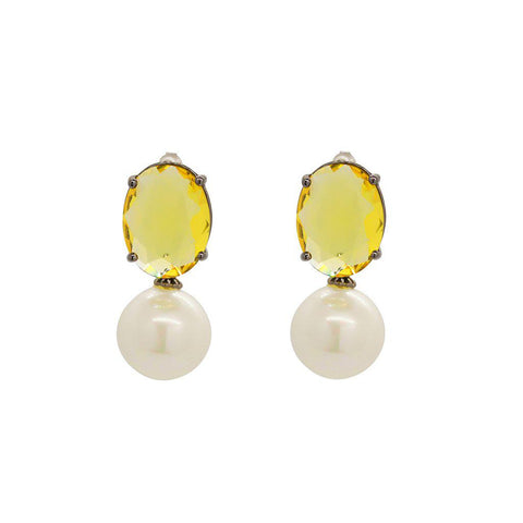 GILLA CRYSTAL/PEARL EARRINGS