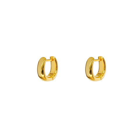 HALON 1 MICRON GOLD HOOPS