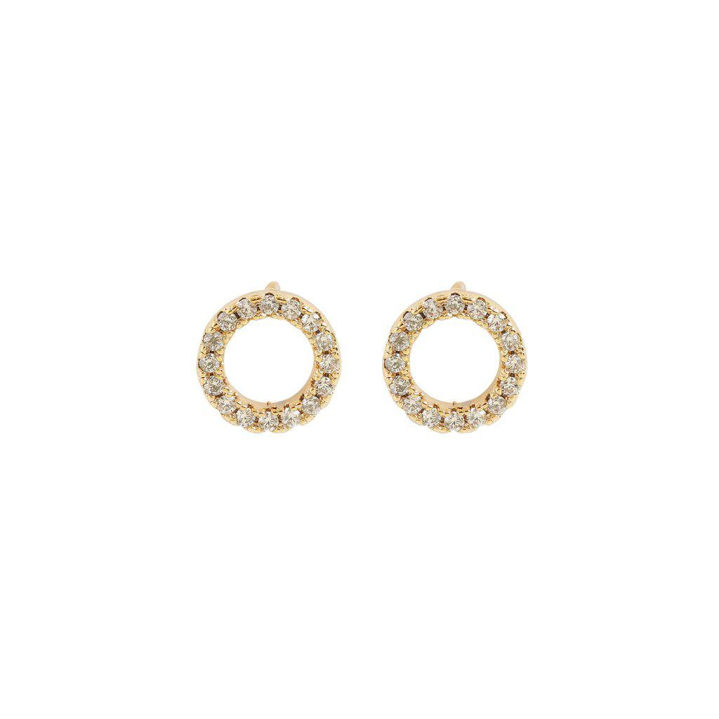 HASNI 14K GOLD PLATED CRYSTAL STUDS