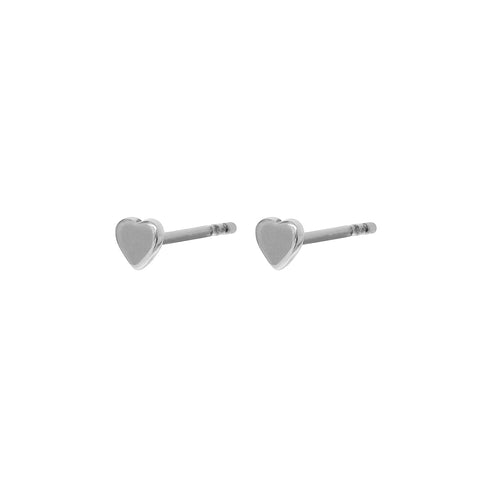 HEART MINI STERLING SILVER STUDS