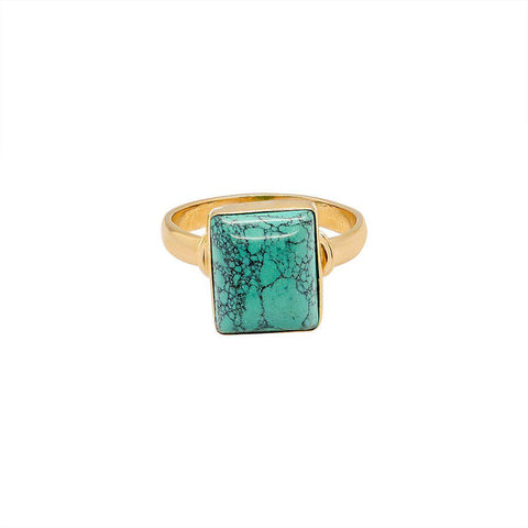HOLLYE GOLD FILLED TURQUOISE SEMI-PRECIOUS RING
