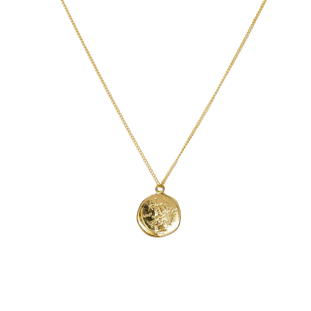 HYON GOLD FILLED COIN PENDANT