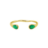 Hannah semi precious stone 2 micron gold bangle