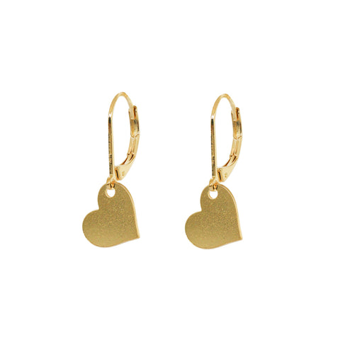 HEART DROP 2 MICRON GOLD EARRINGS