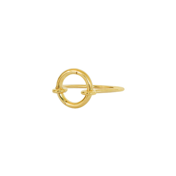 KELANI HOLLOW GOLD RING