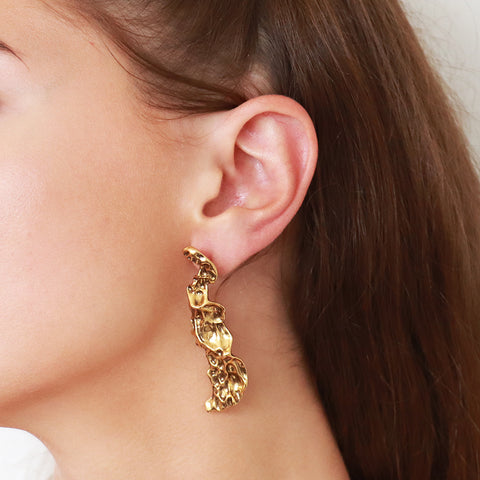 LAIS ANTIQUE GOLD LIGHT EARRINGS