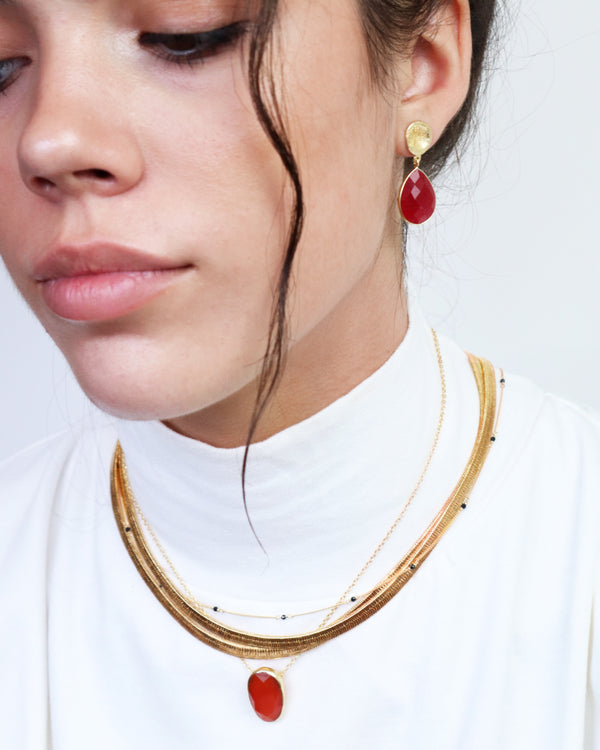 Aranza Semi Precious 2 Micron Gold Necklace