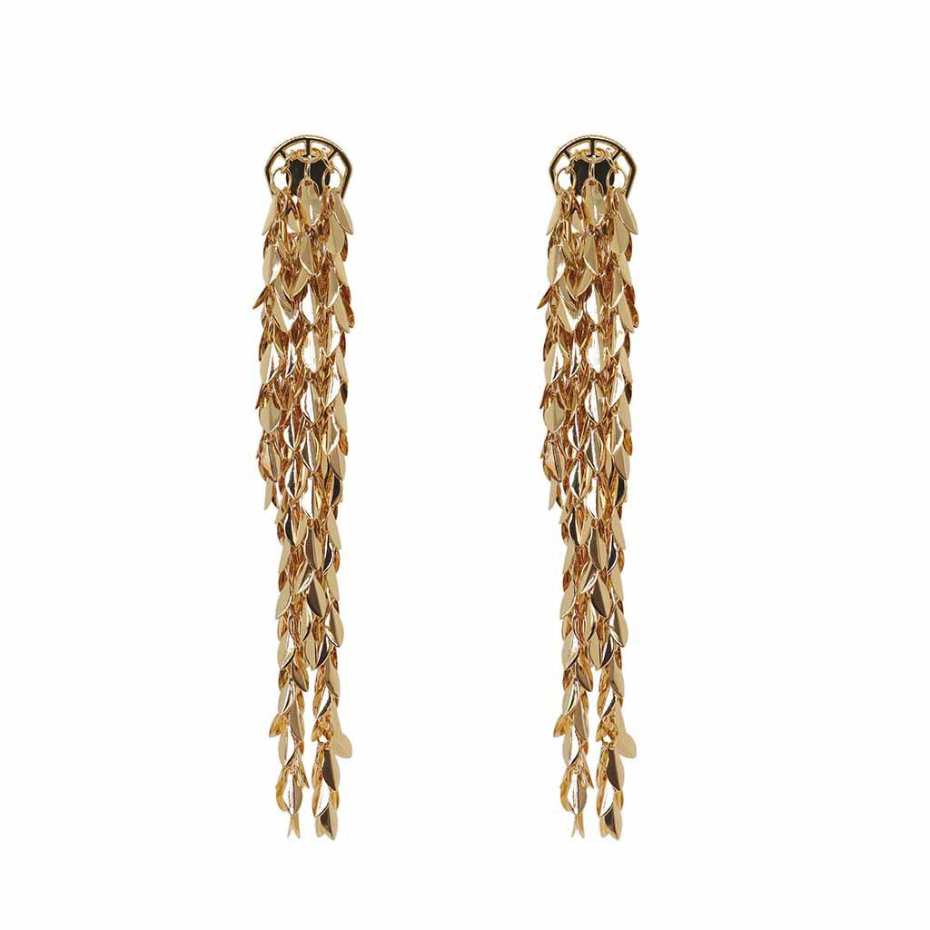 ALIVIA TASSEL DROP GOLD EARRINGS
