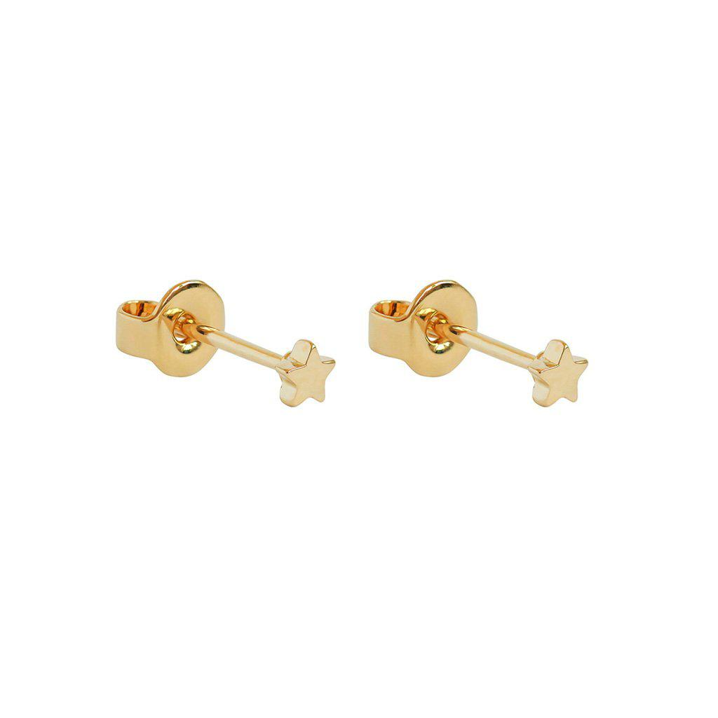 MINI STAR 2 MICRON GOLD STUDS