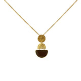 Safiya gold semi-precious pendant necklace