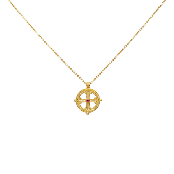 Cruz Gold Cross Necklace