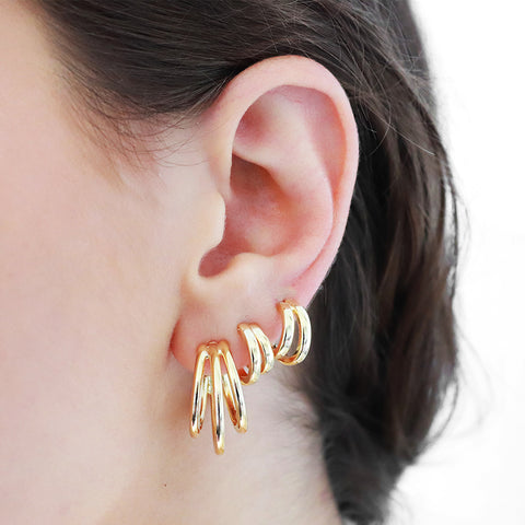 AMARI GOLD HOOP EARRINGS