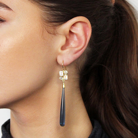 ADRIANA IOLIGHT 2 MICRON GOLD EARRINGS