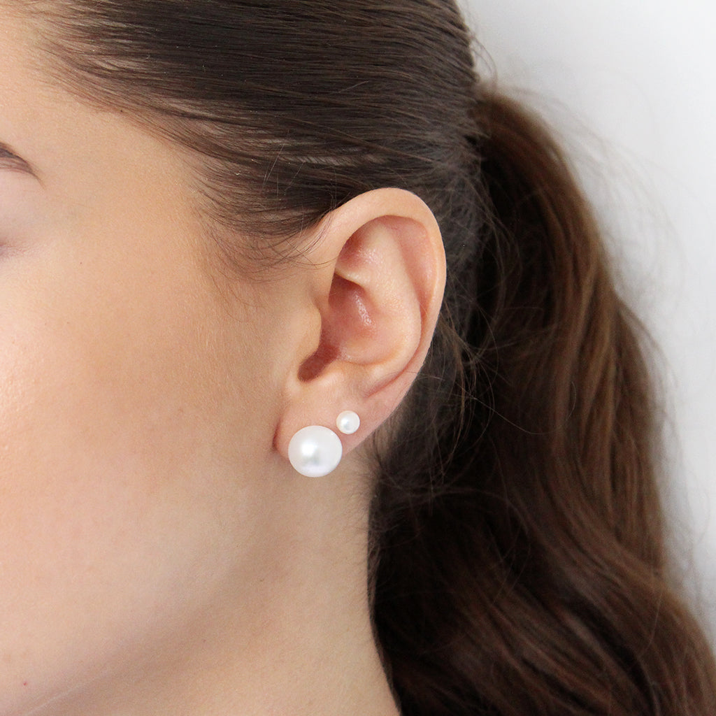 MOTHER OF PEARL STERLING SILVER 12MM STUDS