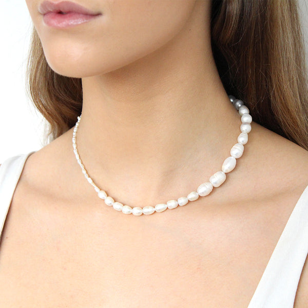 EVA FRESHWATER PEARL GOLD NECKLACE