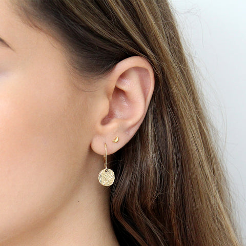 BIONCA DROP DISC GOLD FILLED EARRINGS