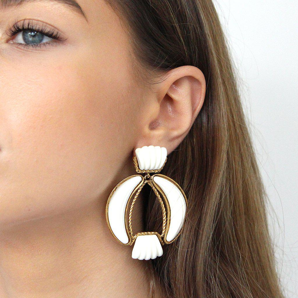 IZABEL WHITE DROP EARRINGS