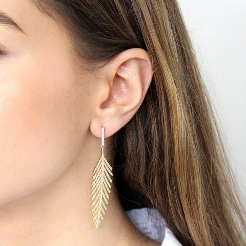 LARISA GOLD CRYSTAL EARRINGS