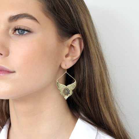 AURORA GOLD BOHEMIAN  EARRINGS