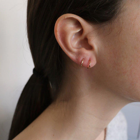 LOLA GOLD FILLED SLEEPER & HELIX EARRINGS