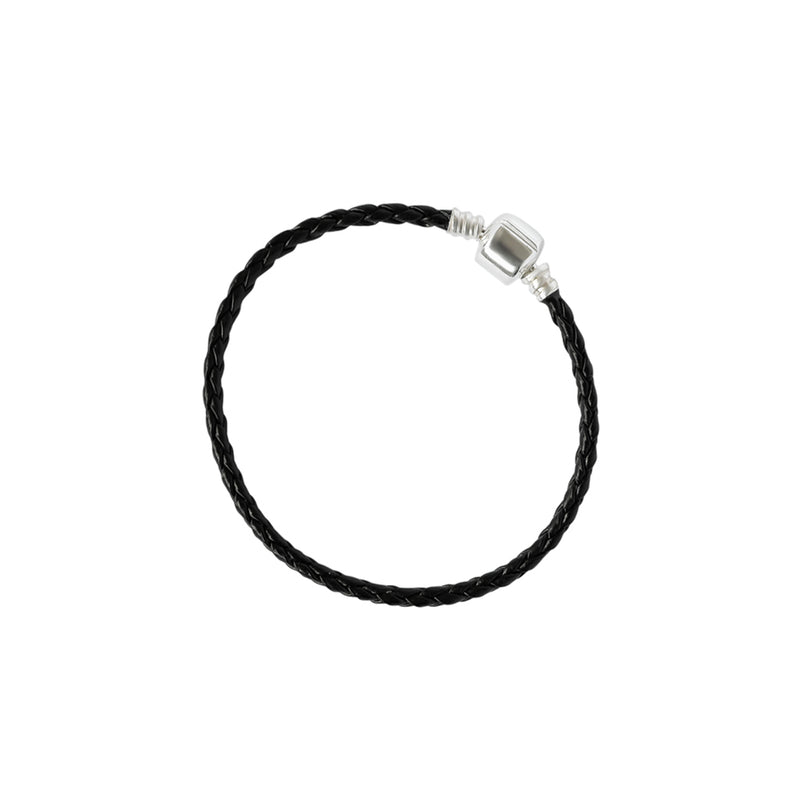 AVEN LEATHER STERLING SILVER BRACELET