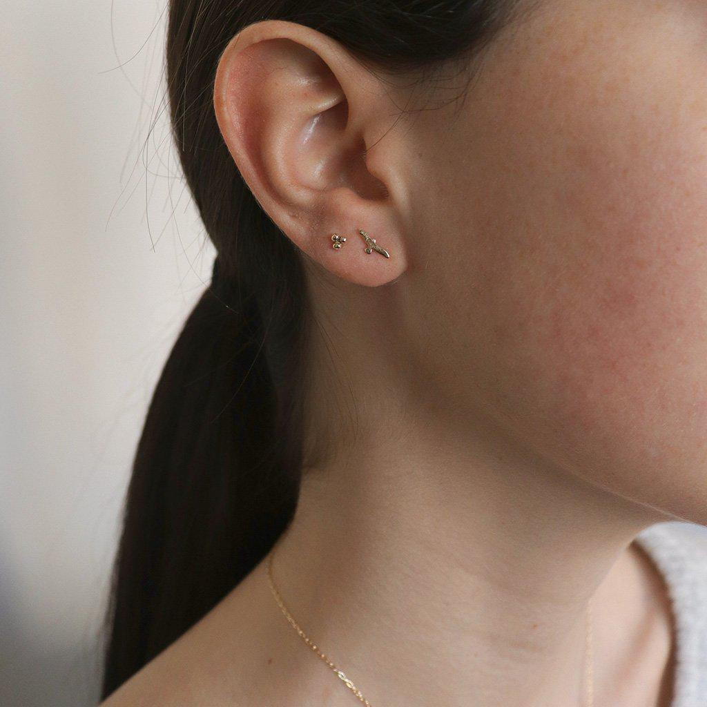 NELLY BIRD 2MICRON GOLD PLATED STUDS