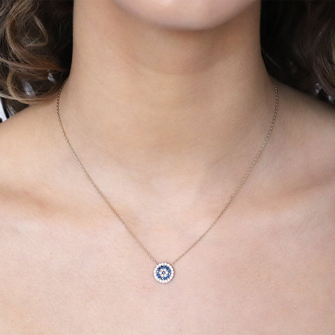 EVIL EYE LARGE ROUND PENDANT