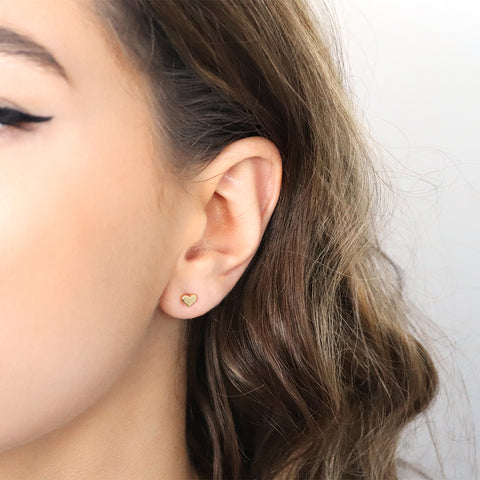 ULLA HEART GOLD STUDS