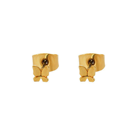 BUTTERFLY GOLD MINI STUDS