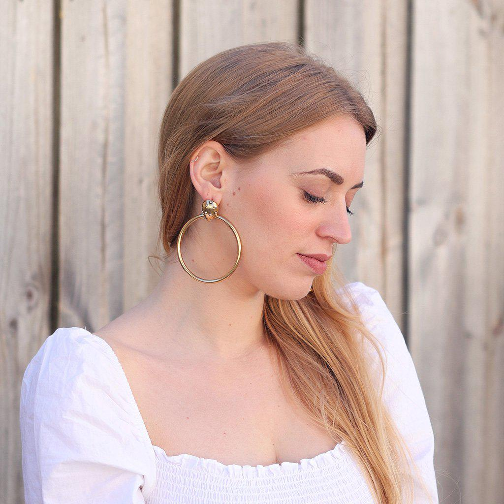 CAROLINA GOLD PLATED EARRINGS