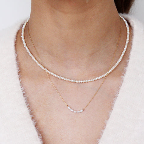 TINLEY FRESHWATER PEARL GOLD PLATED NECKLACE