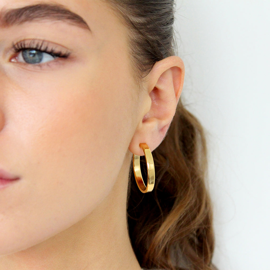 SOLAY 1 MICRON GOLD HOOPS