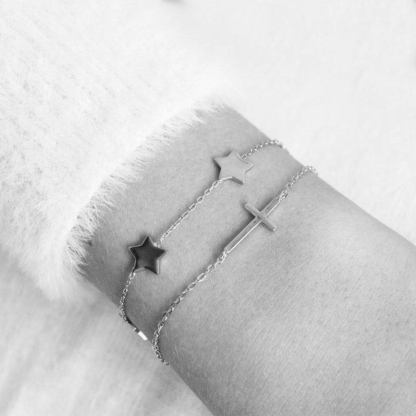 STARS PLAIN ROSE GOLD BRACELET