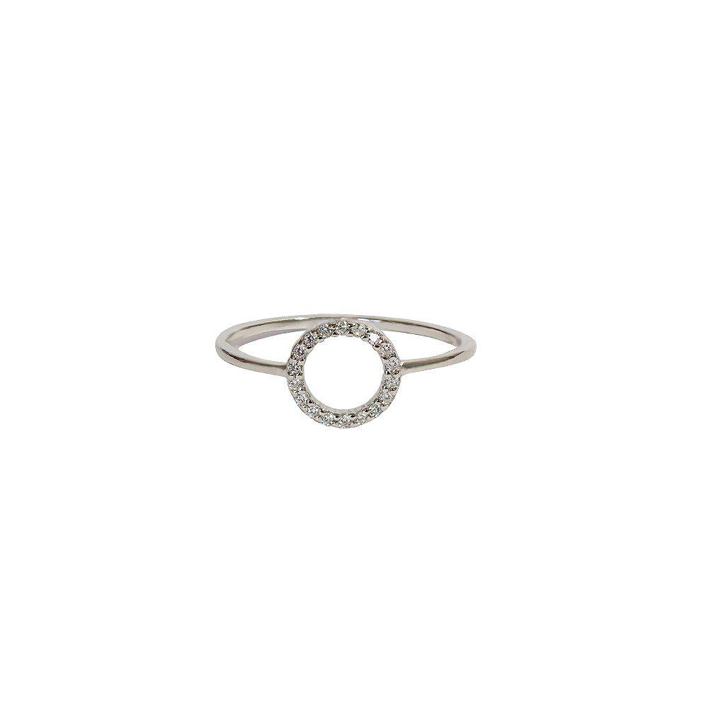 ESTER SILVER CRYSTAL RING